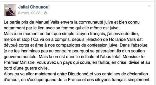 Un élu accuse Valls de «parti pris» envers la communauté juive : il rend sa délégation face au tollé