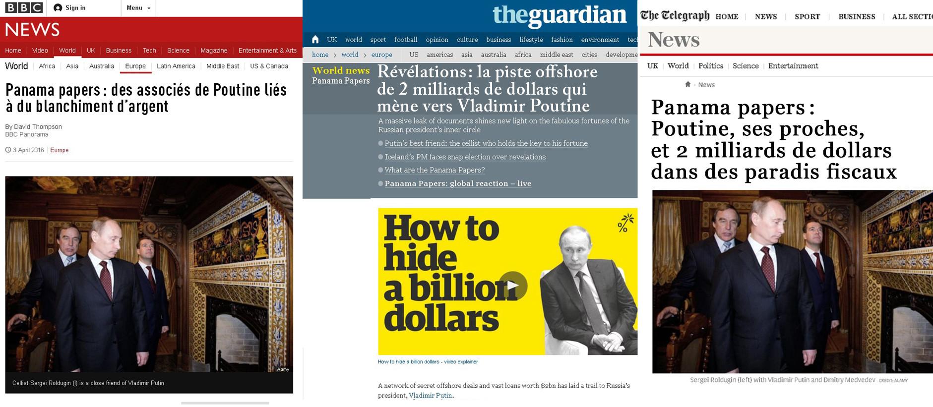 Le père de Cameron impliqué dans un scandale fiscal, les médias anglais se focalisent sur Poutine