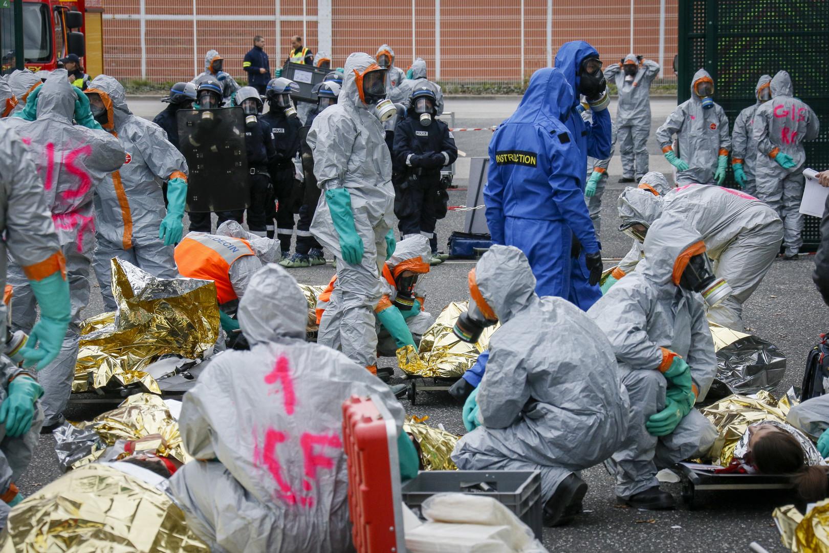 Euro-2016 : simulation d'une attaque chimique au stade de Saint-Etienne (PHOTOS)