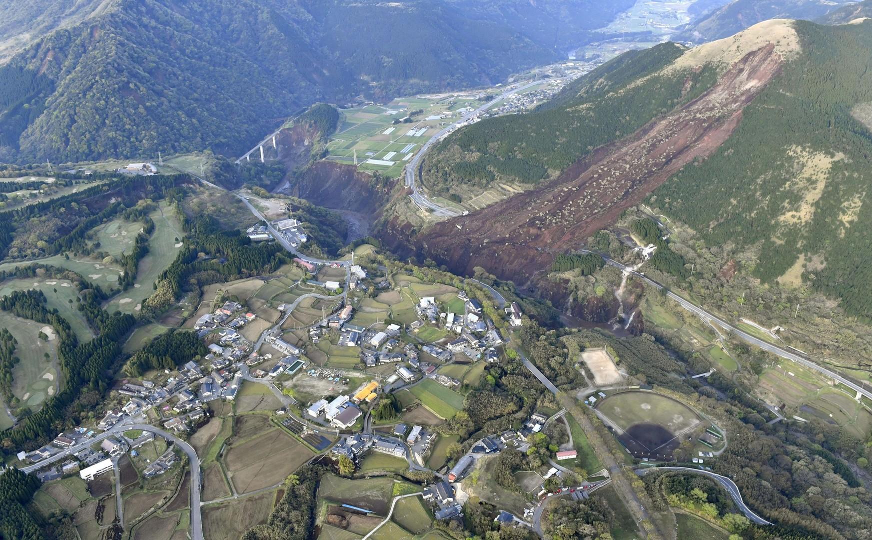 D'importantes coulées de boue ont dévasté certaines zones de la préfecture de Kumamoto