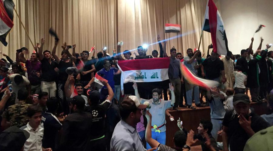 Irak : des milliers de manifestants ont envahi samedi la Zone verte à Bagdad