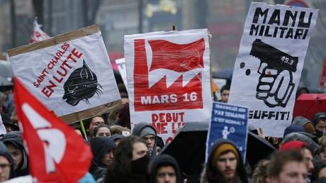 Protestation contre la réforme du Code de Travail à Paris le 31 mars
