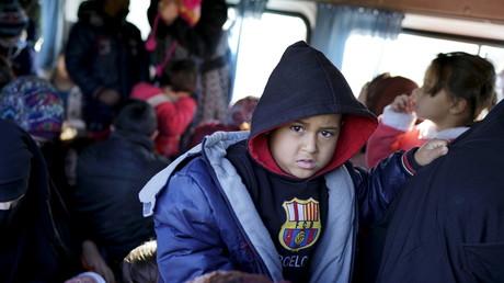 Réfugiés reccueillis près de Dikili, en Turquie