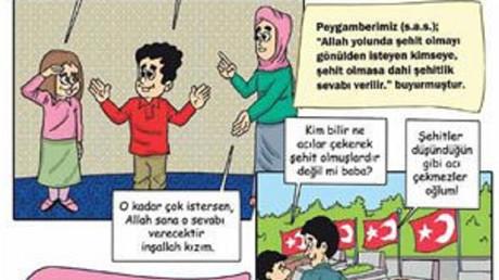 Turquie : une bande dessinée glorifie la mort en martyr auprès des enfants