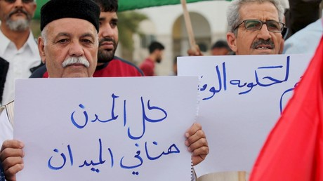Des partisans du gouvernement libyen