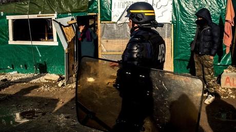 Un CRS en mission à Calais
