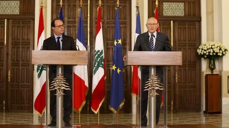Le président français François Hollande et le Premier ministre libanais Tammam Salam