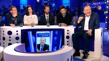 Capture d'écran de l'émission de Laurent Ruquier avec Pierre Gattaz
