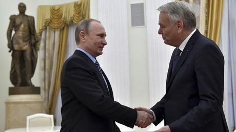 Rencontre entre Vladimir Poutine et Jean-Marc Ayrault