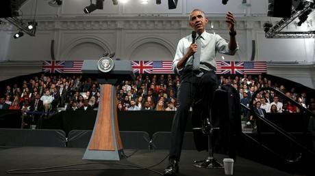 Barack Obama lors de son discours à Londres