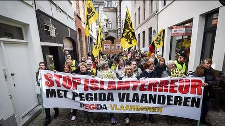 Des manifestants à Anvers