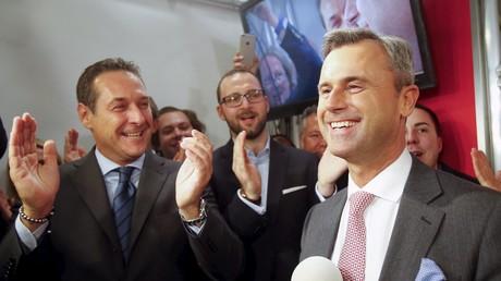 Le candidat à la présidentielle autrichienne Norbert Hofer