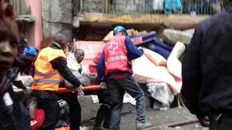 Kenya : un immeuble de six étages s'effondre à Nairobi, au moins trois morts et plus de 15 blessés