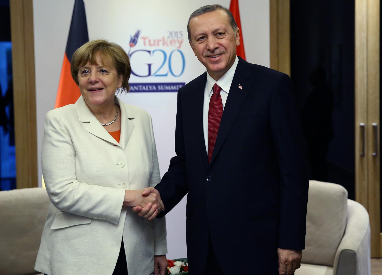 Angela Merkel et Recep Erdogan