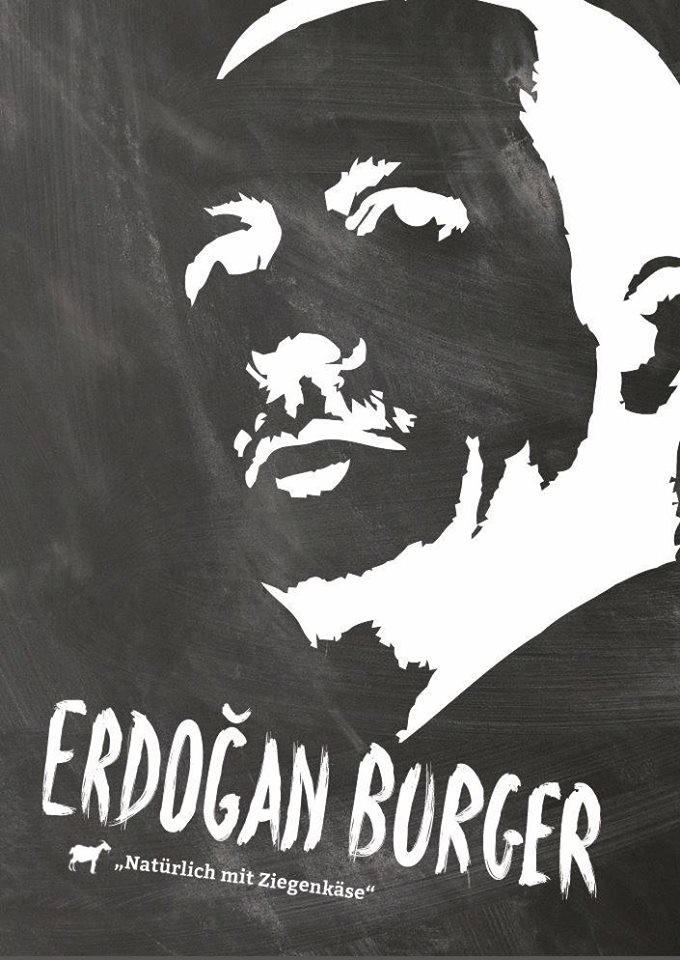 Erdogan-burger : à défaut de tête de veau, un restaurateur allemand présente sa tête de Turc