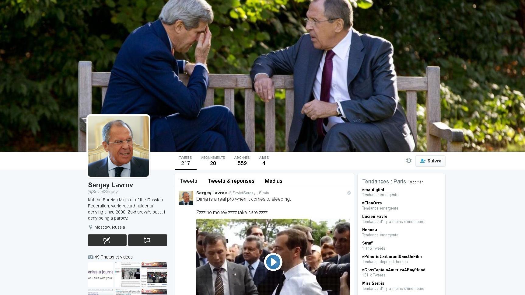 «Russophobie inconsciente» : Euronews justifie la publication d'un faux tweet de Sergueï Lavrov