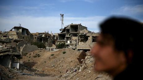 Un combattant de l'Armée syrienne libre dans la province de Damas, à Jobar