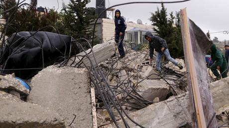 Une maison détruite par l'armée israélienne en Cisjordanie