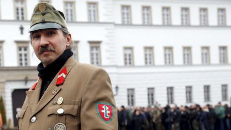 Un rassemblement néo-nazi en Hongrie le 13 février 2016