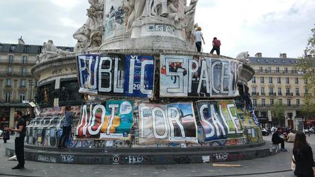 Place de la République. Capture d'écran Twitter.