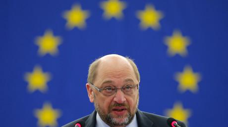 Une photo qui résume parfaitement l'engagement européen de Martin Schulz