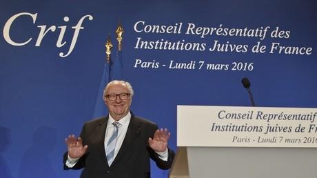 Le président du Conseil Représentatif des Institutions juives de France, Roger Cukierman