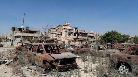 Décombres d'une ville libyenne