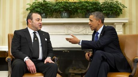 Le roi du Maroc Mohammed VI et Barack Obama