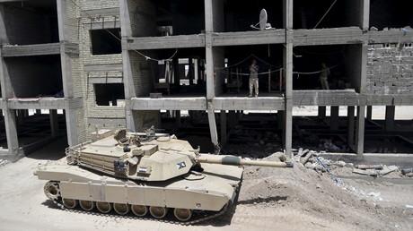 Un tank irakien dans la ville irakienne de Fallujah en mai 2015