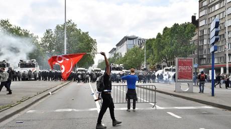 La manifestation a dégénéré à Bruxelles