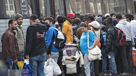 Des migrants en Europe