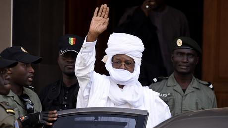 L'ancien président tchadien, Hissène Habré, à Dakar, en juin 2015