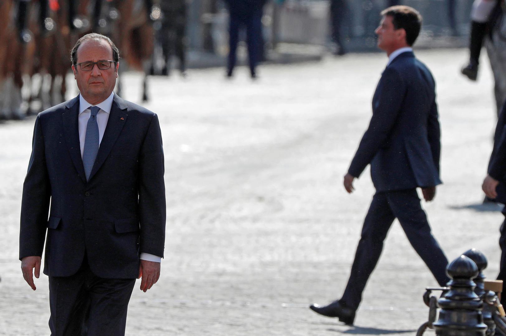 Effondrement de la cote de popularité de François Hollande et de Manuel Valls