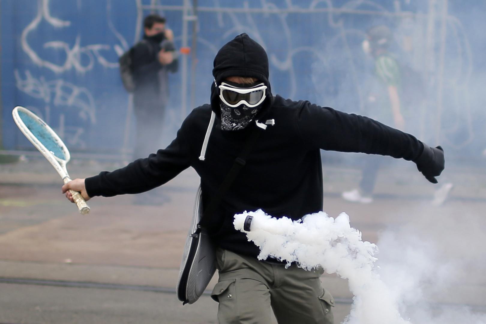 Manifestation anti-loi travail à Nantes