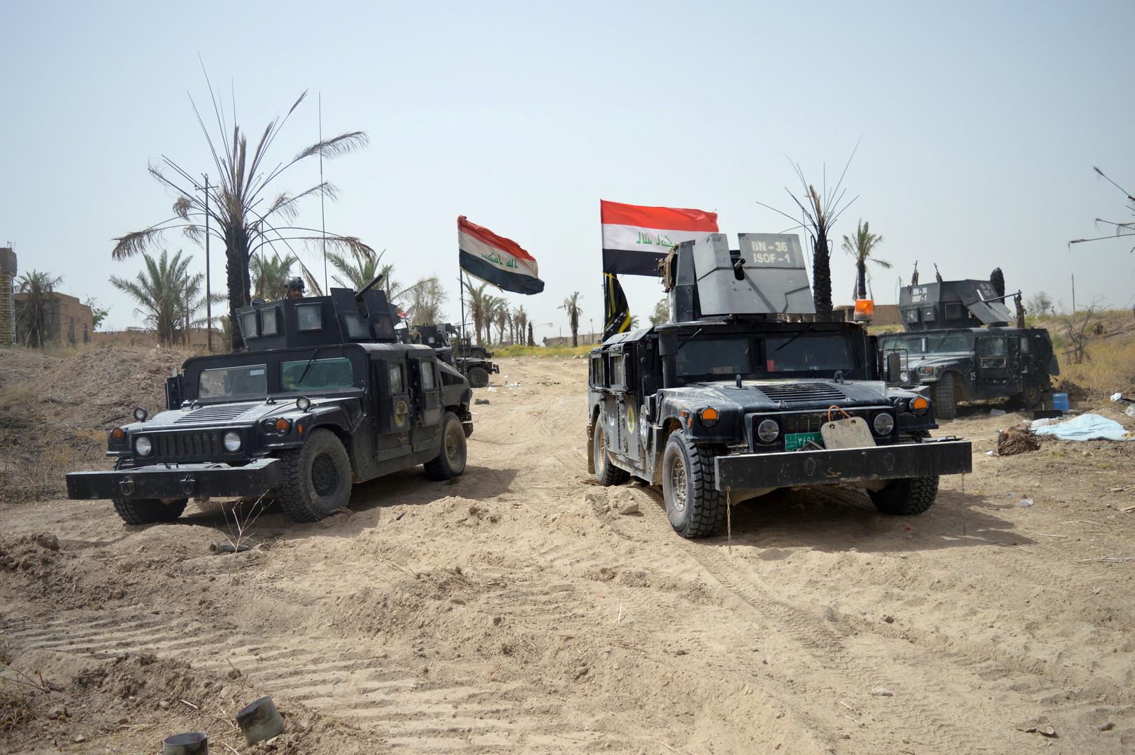 Les véhicules blindés de l'armée irakienne