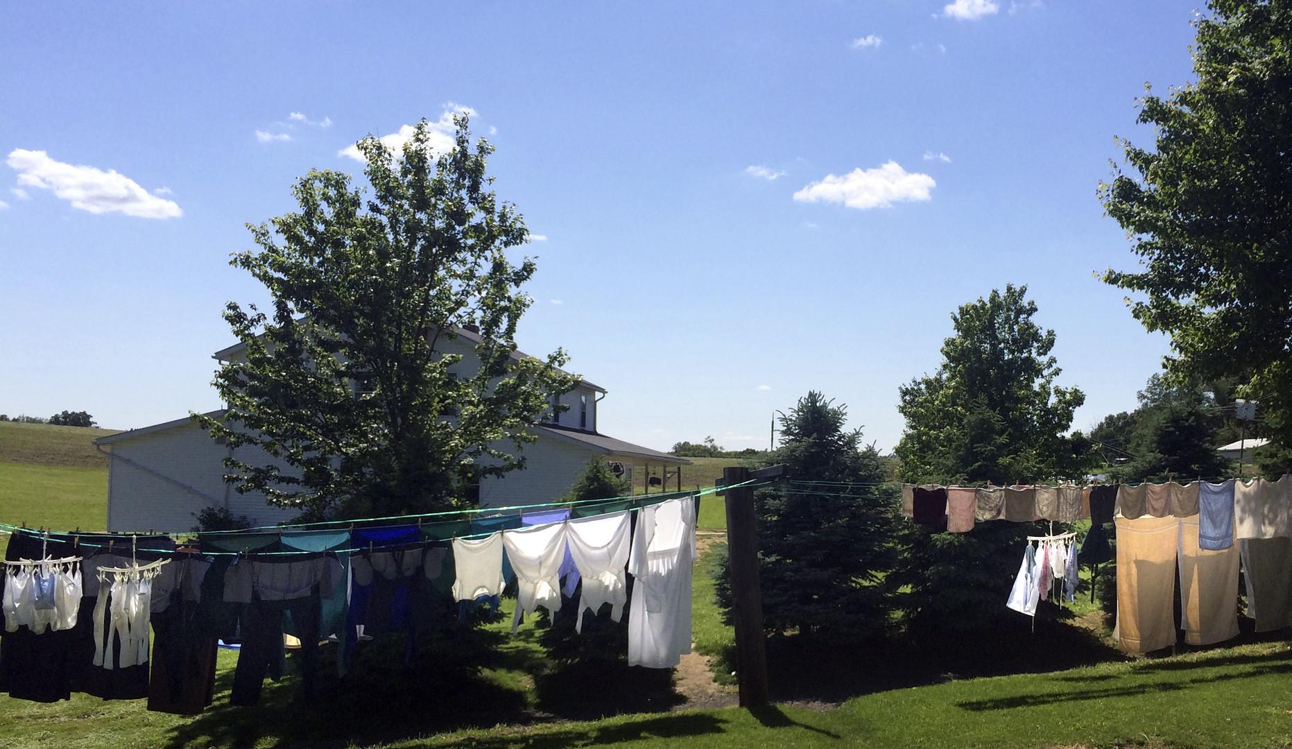 Une maison de la communauté Amish aux Etats-Unis