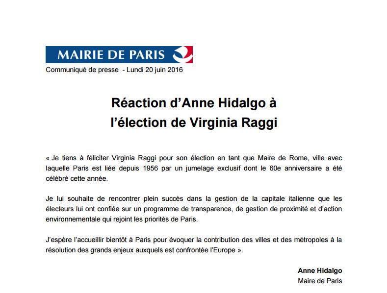 Viriginia Raggi et Sadiq Khan : le deux poids deux mesures d'Anne Hidalgo fait rire les internautes