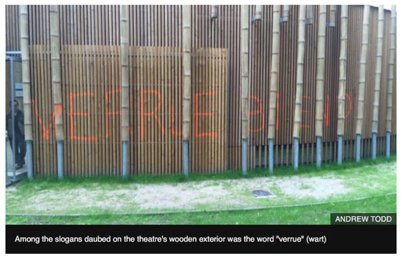 «Profanation politique»: un théâtre symbole de l'Entente cordiale vandalisé à Calais (PHOTOS)