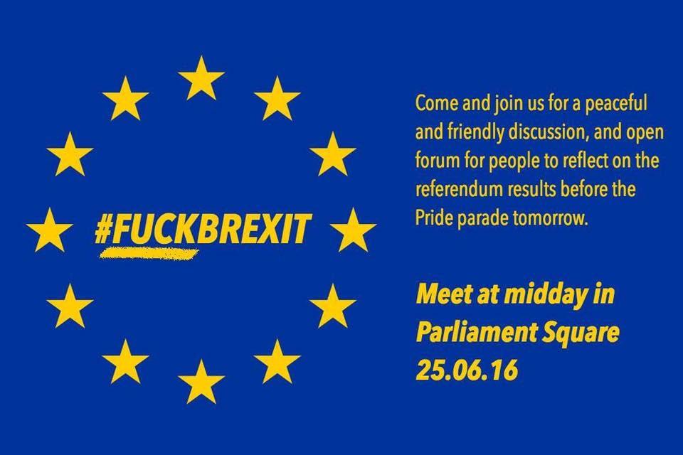 «F*ck Brexit !» : les jeunes descendent dans les rues pour dénoncer les résultats du référendum