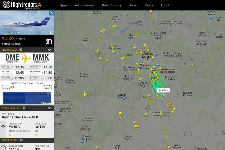 Un avion russe a atterri en urgence à l'aéroport de Domodedovo près de Moscou