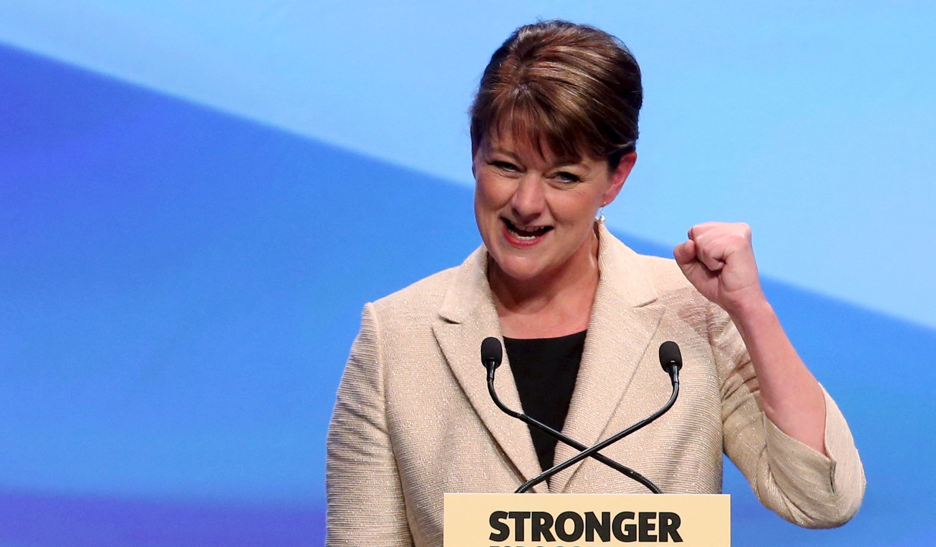 Leanne Wood, dirigeante du  parti nationaliste gallois Plaid Cymru