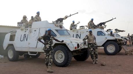 Des soldats tchadiens appartenant à la MINUSMA au Mali