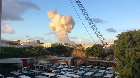 Capture d'écran Twitter de l'attentat de Mogadiscio