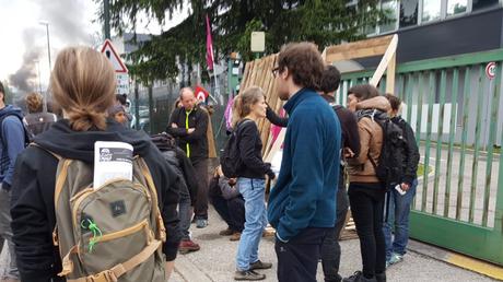 Loi Travail : blocage de l'entreprise de Pierre Gattaz en Isère