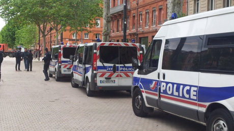 Les policiers déployés à Toulouse lors de la manifestation du 2 juin