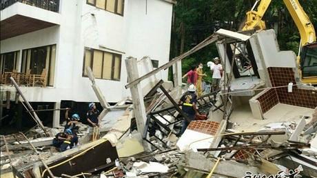 Thaïlande : au moins un touriste mort et sept piégés dans l'effondrement d'un hôtel