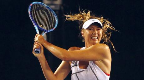 Maria Sharapova en session d'entraînement
