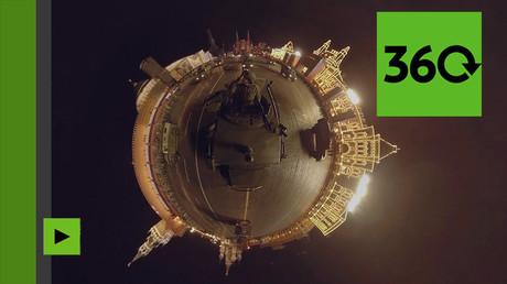 Répétition du défilé militaire du Jour de la Victoire à Moscou à 360 degrés