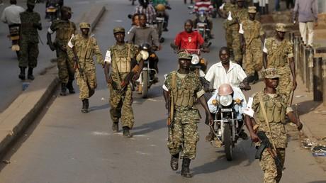 Des soldats ougandais