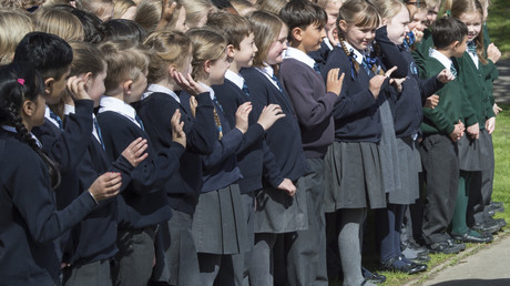 Des écolières britanniques